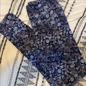 Lularoe OS leggings | Blue print